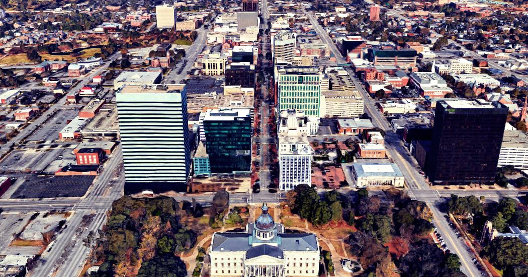 Ariel View of Columbia SC